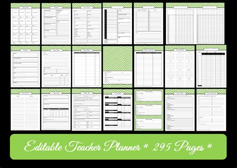 printable teacher lesson planners editable chevron printable teacher planner