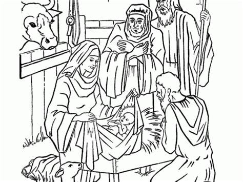 coloring pages jesus birth story free coloring pages of birth of jesus