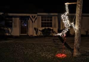 palm beach gardens homeowner hangs dead reindeer display