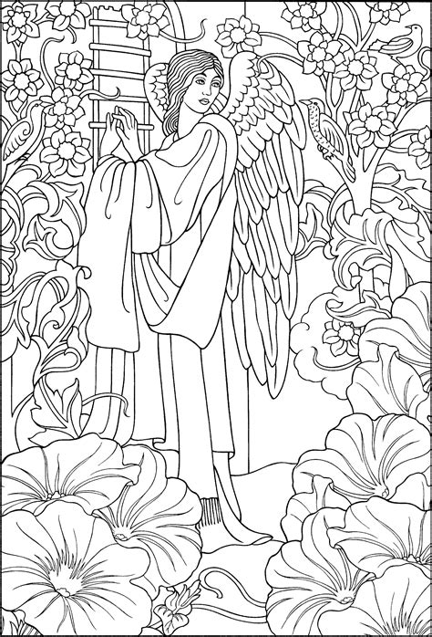 beautiful angel coloring page angel coloring pages
