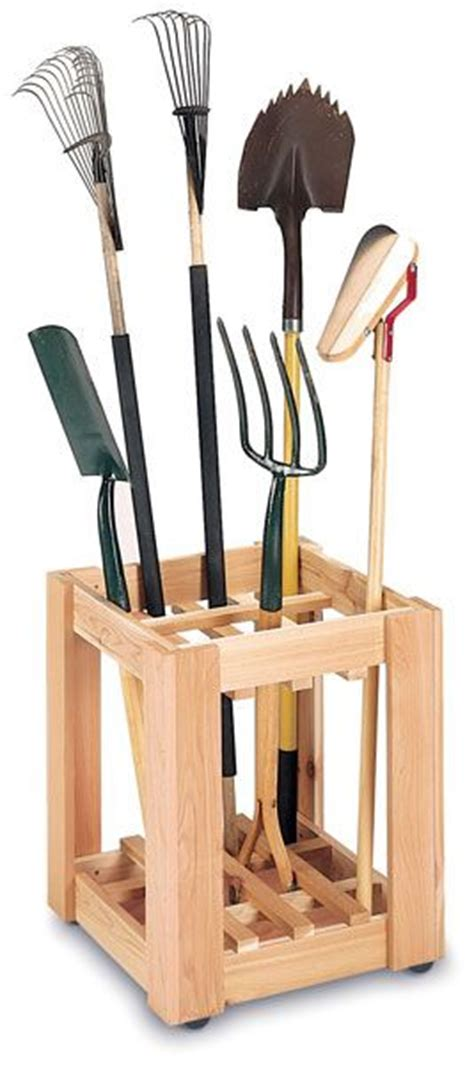 garden tool storage rack woodworking projects plans