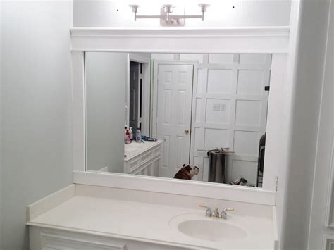 White Framed Mirrors For Bathrooms Single Sink Vanity Wall Mirror With Easy White Wooden Frame Of Astonishing Wooden Framed