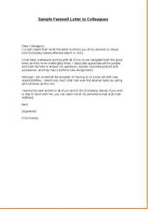 resignation letter format resignation letter to coworkers