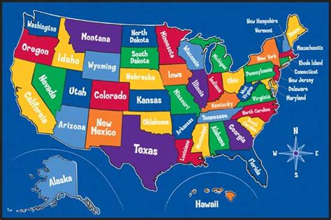 map of the united states kid friendly educational rugs kids play rugs
