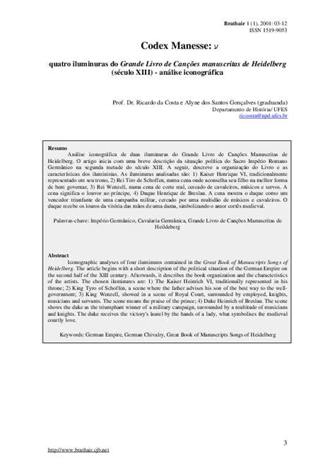 (PDF) Codex Manesse: quatro iluminuras do Grande Livro de