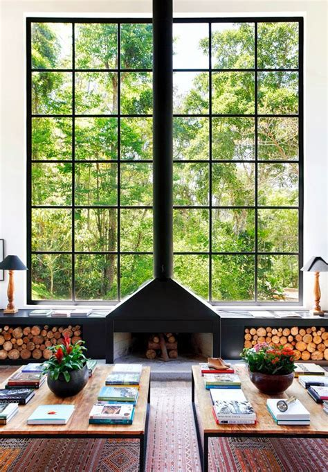 Fireplace Window by 20 Nature Loving Fireplace Ideas