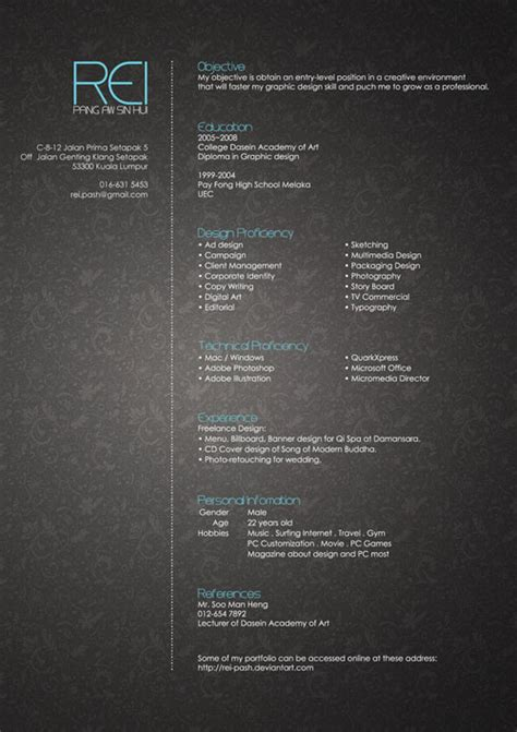 cv resume design inspiration 30 creative resume cv designs for inspiration designmodo