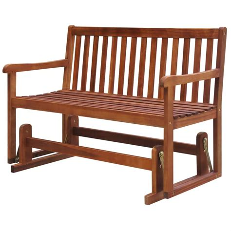 wood bench glider vidaxl porch glider garden swing bench acacia wood