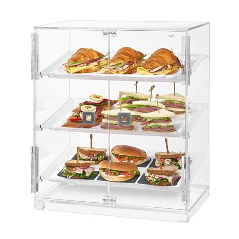 Countertop Bakery by Rosseto Bd129 Countertop Bakery Display W 3 Tiers 19 1 Quot X 12 75 Quot X 23 Quot Clear Acrylic