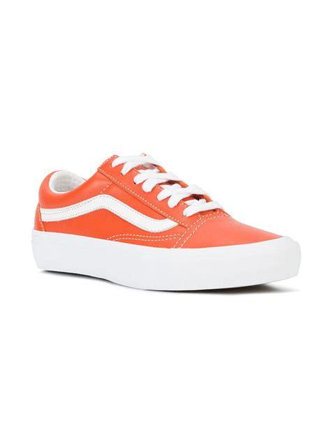 vault sneakers lyst vans skool vault sneakers in orange for