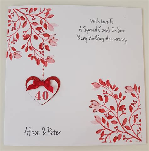 40th Wedding Anniversary Cards Husband