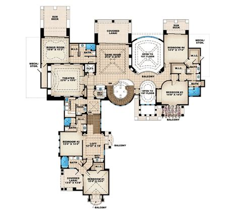tuscan style floor plans architectural designs