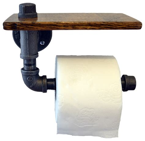 toilet paper holder wood shop houzz turnbull farms reclaimed wood and pipe toilet