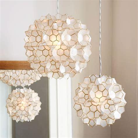capiz shell pendant light capiz flower pendant west elm