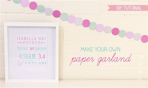 Make Your Own Paper Garland - craft tutorial make your own paper garland diy free
