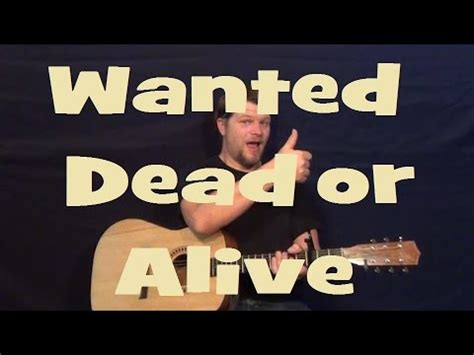 tutorial wanted dead or alive wanted dead or alive bon jovi easy strum guitar lesson