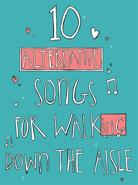 Wedding Aisle Songs Alternative by 10 Alternative Songs To Walk The Aisle To