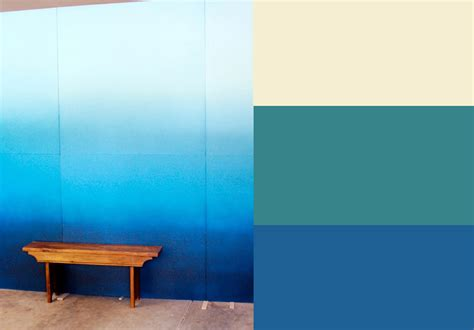 blue wall paint home design interior