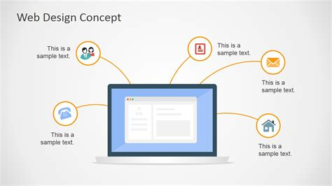 powerpoint for web design web design concept powerpoint slide slidemodel