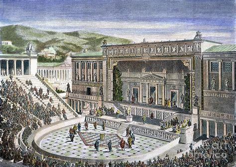 greek theatre ancient greece greek theatre photograph by granger
