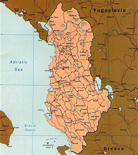 map of albania albania maps printable maps of albania for