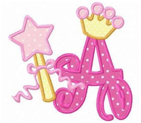 26 princess crown font letters applique machine embroidery