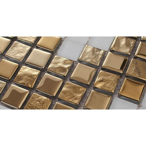 Decorative Mosaic Wall Tiles - golden glass mosaic tiles pattern for wall decorative