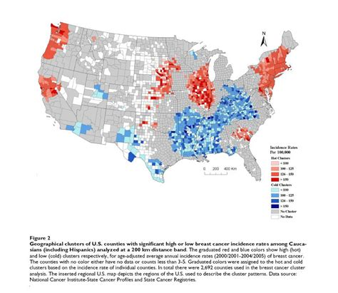 map usa of types of cancer geomedicine shows patterns in u s breast and