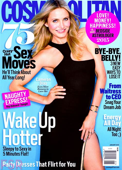 cosmopolitan magazine cameron diaz in cosmopolitan magazine january 2015 issue