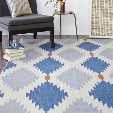 what is a dhurrie rug wool dhurrie rug regal blue west elm