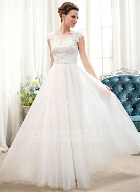 hochzeitskleid a linie prinzessin a line princess scoop neck floor length tulle lace wedding