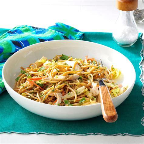 thai pasta salad thai chicken pasta salad recipe taste of home