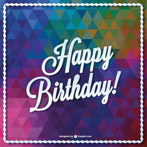 Birthday Card Designer Free Triangle Vector Birthday Card Design Over Millions