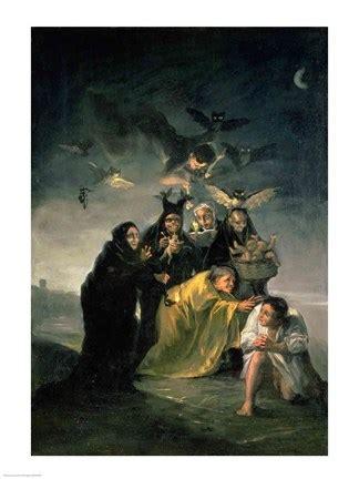 the witches' sabbath fine art print by francisco de goya