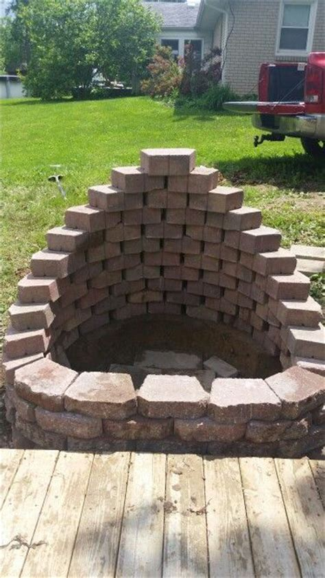 My Beautiful New Fire Pit My Husband And I Built Used Garden Retaining Wall Blocks