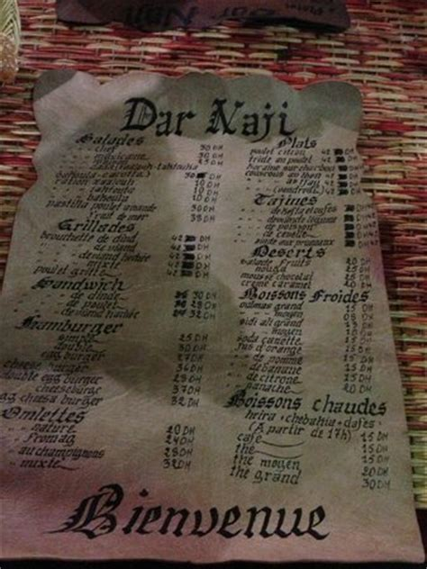 dar naji, rabat restaurant reviews, phone number