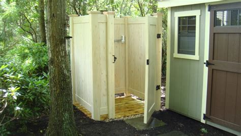 pvc outdoor shower dumpster enclosures outdoor showers and more made out of
