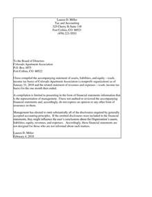 financial statement cover letter financial statement cover letter