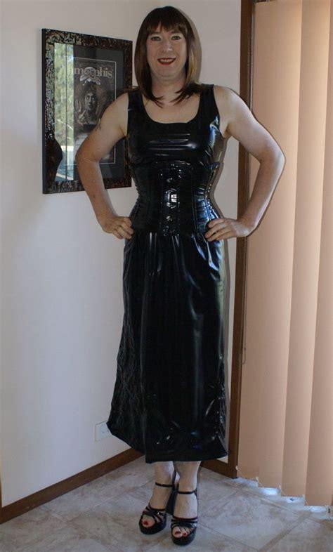 unlined pvc dress  corset photo   april