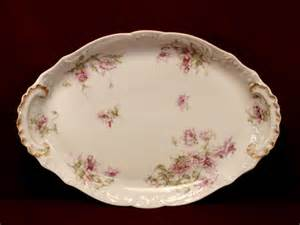 theodore haviland china platter oval shape floral pattern