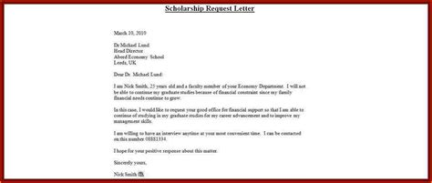 application letter for scholarship grant exles 8 sle application letter for scholarship grant