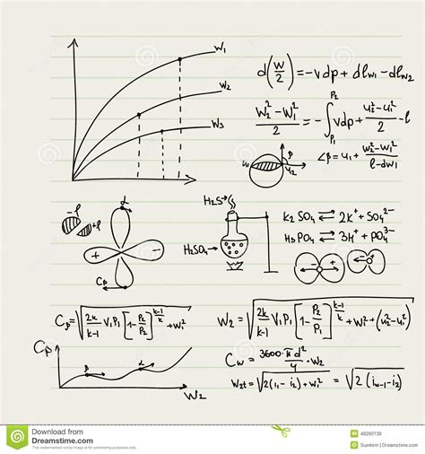pattern math formula vector pattern with mathematical formulas stock photo