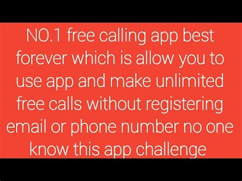 email without phone number best free calling app use without phone number and email