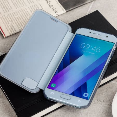 Clear View Cover Samsung A5 2017 official samsung galaxy a5 2017 clear view cover blue