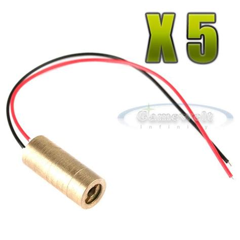 5w 650nm laser diode 5x 5mw 650nm laser diode module for lightshow adjustable beam ebay