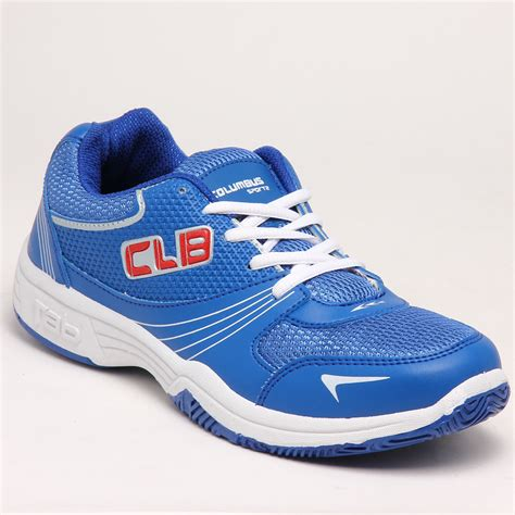 columbus sports shoes buy columbus pu sports shoes blue 3686 at best