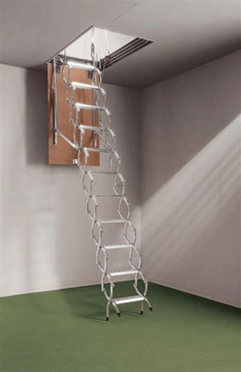 Retractable Stairs Design Space Saving Retractable Staircase That Folds Away In Lightweight Aluminum Design Bookmark 2403