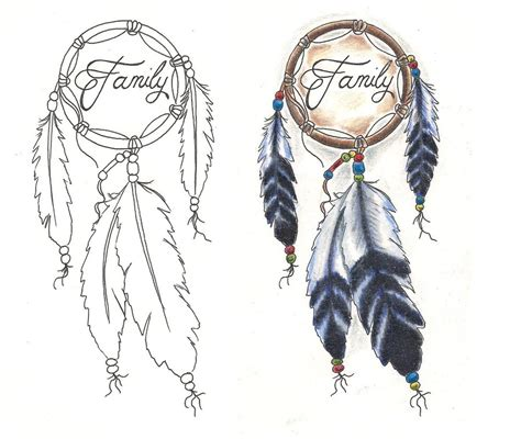 freebies tattoo designs dream catcher family by