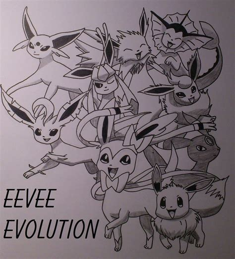 pokemon coloring pages eevee evolutions sylveon pokemon eevee s evolution by xbrotherxfezelx on deviantart