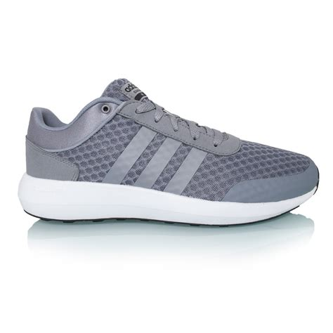 adidas cloudfoam race mens running shoes grey white black sportitude